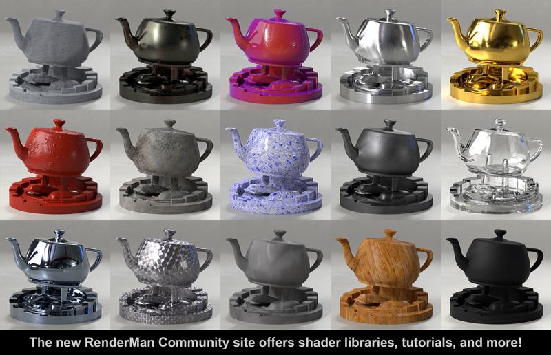 Pixar RenderMan Teapots
