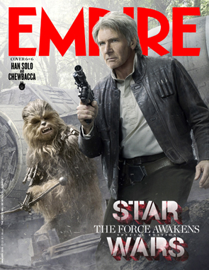 Star Wars The Force Awakens Empire Magazine Han Solo & Chewbacca