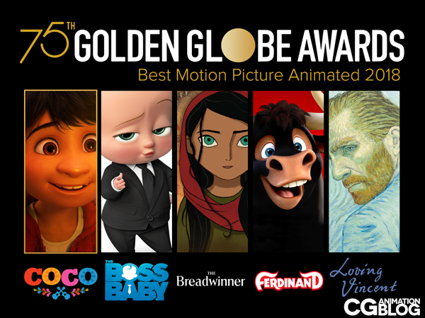 Golden Globes Animated Feature Nominees 2018