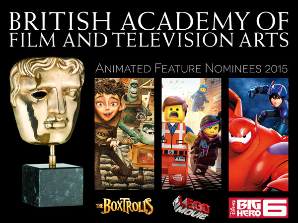 BAFTA Animated Feature Nominees 2015