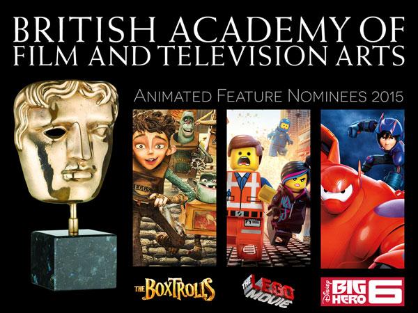 BAFTA Animated Feature Nominees 2015