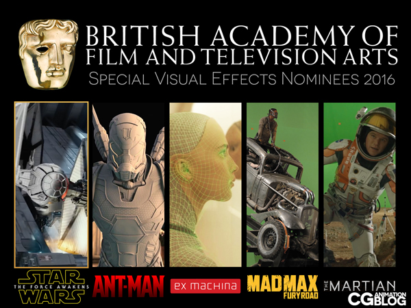 BAFTA Special Visual Effects Nominees 2016