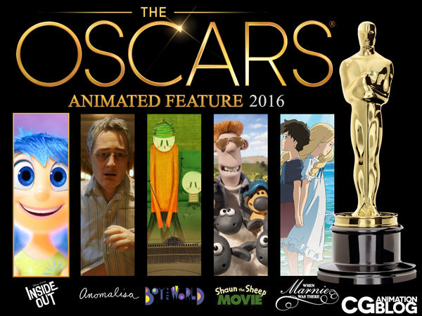 OSCARS Animated Feature Nominees 2016
